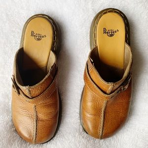 Dr Martins Tan Mules Size 8